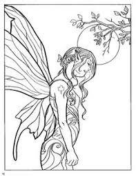 From Dover Fairy Fashion Coloring Book