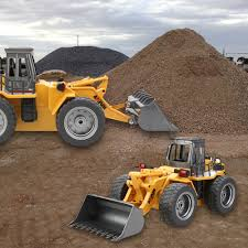 100 Earth Mover Truck VICIVIYA Functional Front Loader Bulldozer Electric RC Forklift
