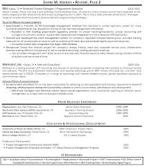 Junior Project Manager Resume Examples It Program Of Management Resumes Senior Construction For