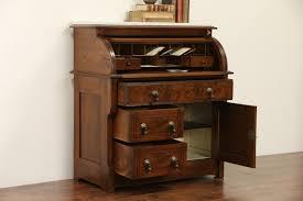 Antique Secretarys Desk by Sold Victorian 1880 Antique Walnut Cylinder Roll Top Secretary