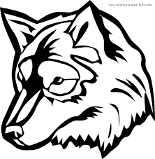 Wolf Face Color Pagesface Printable Coloring Pages Free Download