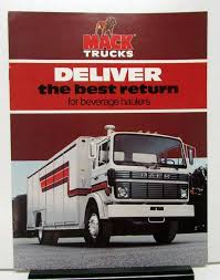 1982 Mack Truck Model MS300T Mid Liner Beverage Hauler Sales Brochure