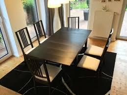 ikea börje stühle 6x ikea bjursta tisch ausziehbar teppich