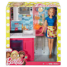 Barbie Doll And Furniture Kitchen Playset Gamestoy Barbie Dolls