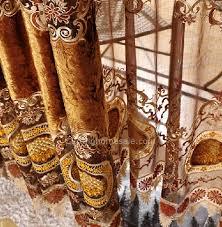 Schlafzimmer Vorhã Nge Stickerei Romantische Schlafzimmer Vorhänge In Gold Und