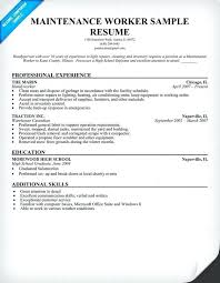 Maintenance Resume Examples Supervisor