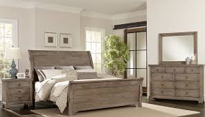 North Shore Sleigh Bedroom Set by Whiskey Barrel Rustic Gray Sleigh Bedroom Set From Virginia House