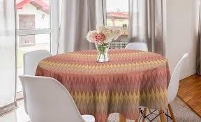 abakuhaus tischdecke kreis tischdecke abdeckung für esszimmer küche dekoration gedämpfte farben abstrakt autumn shapes kaufen otto