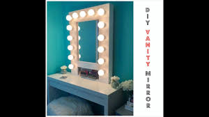 how to build your own vanity mirror w lights easy and
