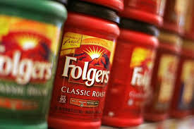 Cans Of Folgers Coffee Are Displayed In A Grocery Store New York This File