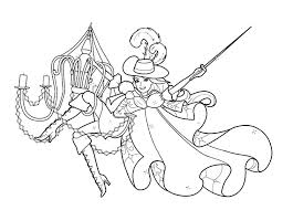 Barbie Three Musketeers In Action Coloring Pages