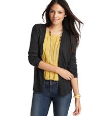 Dress Up A Pair Of Jeans With Blouse Jewelry And Cardigan Or Blazer From Loft