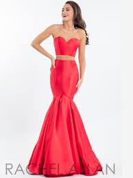 rachel allan 7553 strapless crop top prom dress dressprom net