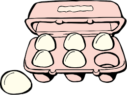Black And White Eggs And Bacon Clipart