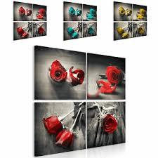 details zu natur leinwand deko bilder wandbild kunst wohnzimmer 3motiv design 4tlg