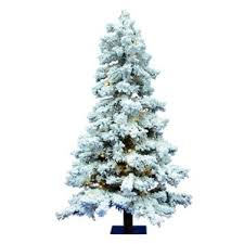 Pre Lit Flocked Artificial Christmas Trees by Flocked Christmas Trees You U0027ll Love Wayfair