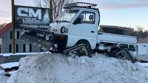 100 Truck With Snow Plow For Sale This Tracked Suzuki For Is All You Need To