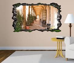 3d wandtattoo durchgang tür flur holz ruine selbstklebend wandbild wandsticker wohnzimmer wand aufkleber 11o311 3dwandtattoo24 de