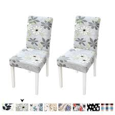 Clothman Washable Dining Chair Covers Set Of 2 Printed High Elasticity  Chair Slipcovers Removable Parsons Chair Covers For Dining Room, Flowery Ding Room Chair Covers From Pillowcases Jackie Home Ideas Serta Reversible Stretch Suede Slipcovers Short Skirt Parsons Chair Slipcovers Miss Mustard Seed Decor Beautiful Parsons Hd For Your Clothman For Printed Elastic Antistain Removable Washable Fniture Protector Linen Uk Chairs Kitchen And Tie Back And Corseted A Fun Way To Dress Up Sew Design Teal How Make A Custom Slipcover Hgtv Slipcover Tutorial How Make Set Of 2 High Elasticity Flowery