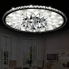 moderne led deckenleuchte runde wohnzimmer led kristall deckenleuchten minimalistische atmosphäre europäische lobby restaurant kristall deckenle
