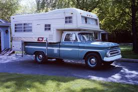 1966 C-20 Chevrolet And A 1969 Holiday Rambler Truck Camper. | Cool ...