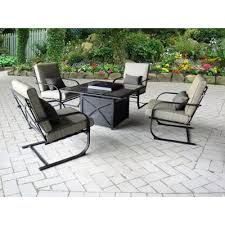 outdoor patio 5 piece fire pit set revere rc willey furniture