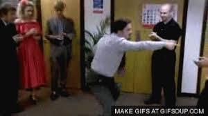 David Brent RIcky Gervais Brtish fice Dancing GIF