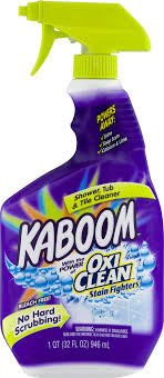 kaboom with the power of oxi clean stain fighters shower tub