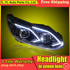 car styling headlights for ford focus 2012 2014 led headlight for