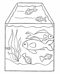 Beautiful Fish Tank Coloring Page 66 About Remodel Free Kids With