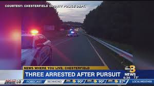 Police Pursuit In Chesterfield Closes Exit On I-95