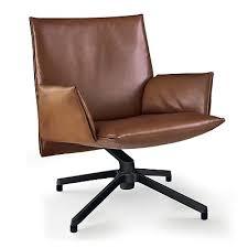 pilot chair low back leather cognac the conran shop