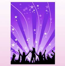 Dancing Music Silhouette Vector Poster Background