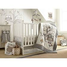 amazon com levtex baby night owl 5 piece crib bedding set baby