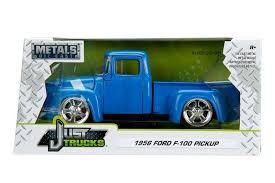 Just Trucks Series: 1956 Ford F-100 Pick Up (Blue) 1/24 Scale