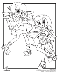 Coloring My Little Pony Equestria Girls Rainbow Rocks Sketch Page