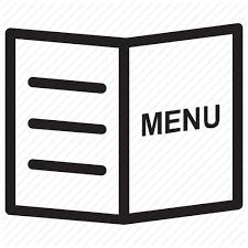 cuisine du jour carte du jour cuisine food menu menu book menu card icon