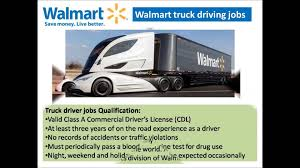 Walmart Truck Driving Jobs Video - YouTube