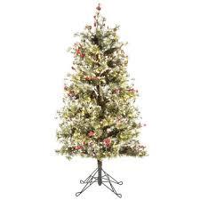Fast Shape Snow Needle Pine Pre Lit Christmas Tree