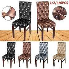 Item 8 Removable Chair Covers Protector Stretch Slipcovers Short Dining Room Stool UK