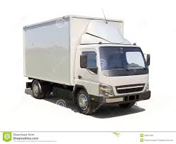 White Commercial Delivery Truck Stock Image - Image Of Cargo, Panel ...