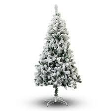 6ft Christmas Tree by Fake Christmas Trees With Snow 6ft 18m Green Slimline Snow