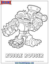 Skylanders Swap Force Rubble Rouser Coloring Page