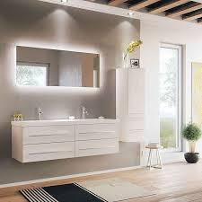 lomado badmöbel set weiss hochglanz miramar 02 doppel waschtisch led spiegel und hochschrank b h t 190 200 50 5cm