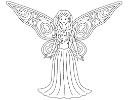 Free Printable Fairy Coloring Pages In Pdf
