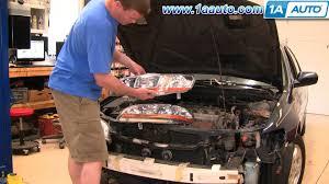 how to install repair replace broken headlight or bulb honda