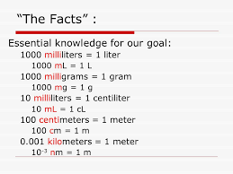 100 milliliters to liters measuring in the metric system ppt