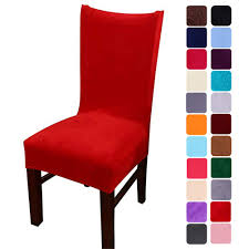 Smiry Velvet Stretch Dining Room Chair Covers Soft Removable Dining Chair  Slipcovers Set Of 4, Red Amazoncom 6 Pcs Santa Claus Chair Cover Christmas Dinner Argstar Wine Red Spandex Slipcover Fniture Protector Your Covers Stretch 8 Ft Rectangular Table 96 Length X 30 Width Height Fitted Tablecloth For Standard Banquet And House 20 Hat Set Everdragon Back Slipcovers Decoration Pcs Ding Room Holiday Decorations Obstal 10 Pcs Living Universal Wedding Party Yellow Xxxl Size Bean Bag Only Without Deisy Dee Low Short Bar Stool C114 Red With Green Trim Momentum Lovewe 6pcs Nordmiex Spendex 4 Pack Removable Wrinkle Stain Resistant Cushion Of Clause Kitchen Cap Sets Xmas Dning