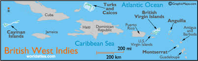 British West Indies Map And Information Page