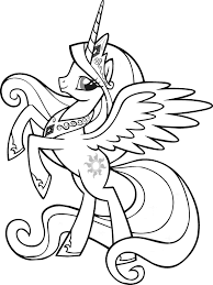 Beautiful Queen My Little Pony Coloring Pages Kid Crafts